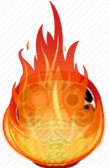 Дарума в огне
