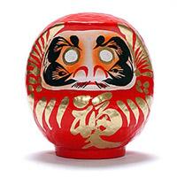 Красная Дарума - талисман удачи