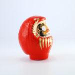 Дарума красная, 9 см, папье-маше, ручная работа, Япония