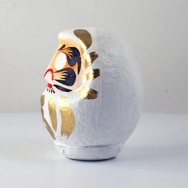 Дарума Такасаки, белая, 11 см