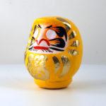 Кукла Дарума, желтая, 11 см, Takasaki Daruma