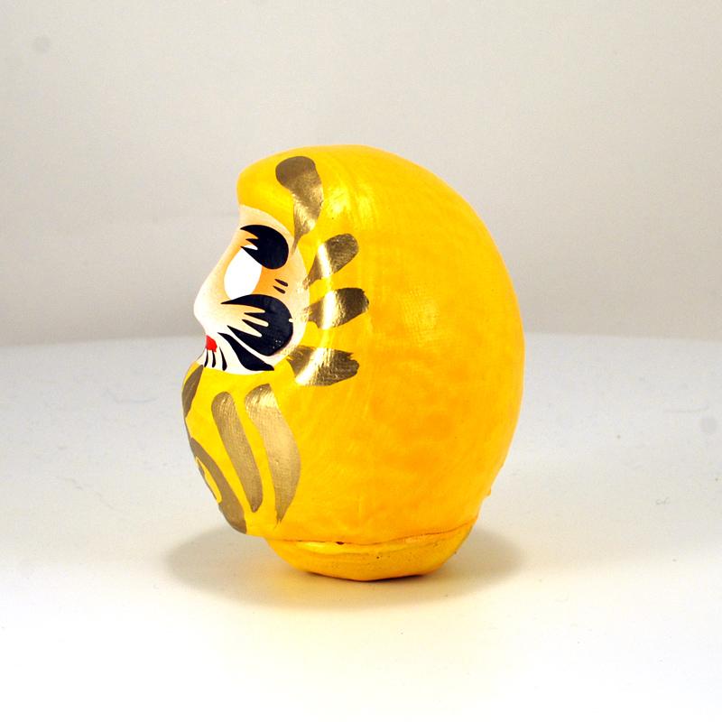 Кукла Дарума из Японии, желтого цвета, 9 см