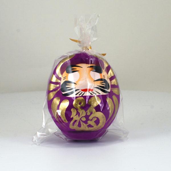 Японская кукла Дарума фиолетовая, 9 см