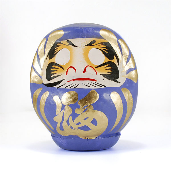 Дарума Takasaki, 11 см, синяя, Япония