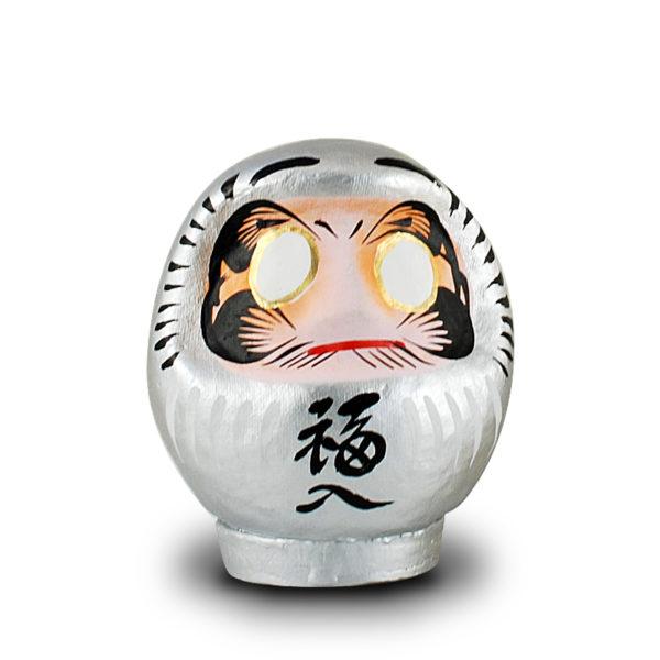 Дарума серебряная, Yoshida, 9 см